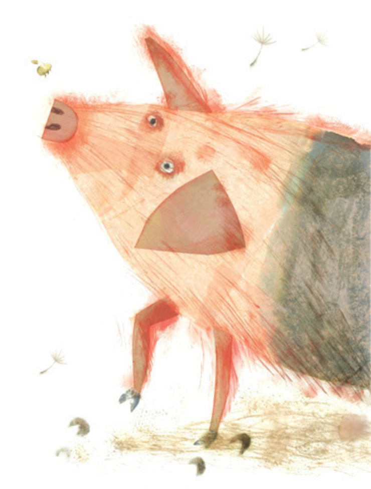 Small-Eyed Pig by Juliet Docherty: modern  by Little Carousel Gallery, Modern