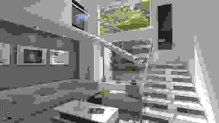 Sala Salones modernos de arquitecto9.com Moderno