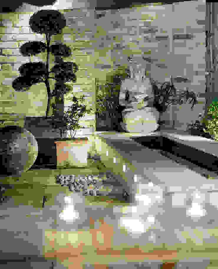 Well Walk Asian style garden by KSR Architects Asian