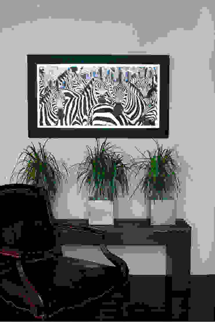 Equus Zebra Paredes y suelos de estilo rústico de LA CASA DE LOS CUADROS Rústico