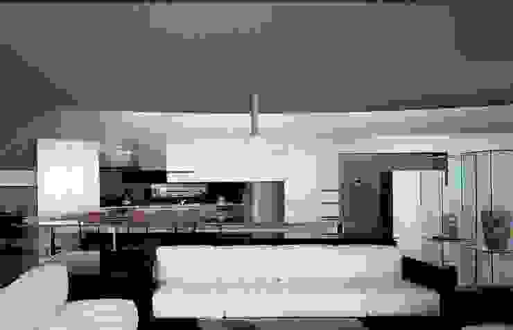サロン-生活のすべてが収まるマルチプレックスと一体化 モダンデザインの リビング の 中村弘道・都市建築 計画設計研究所/HIROMICHI NAKAMURA ARCHITECT & ASSOCIATES モダン