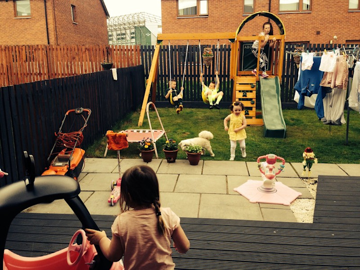 Andorra Climbing Frame In Small Family Garden Selwood Products Ltd Classic style garden