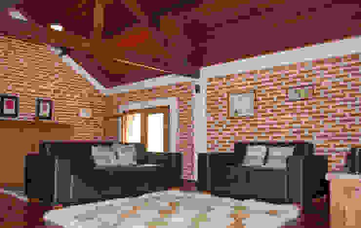 Гостиная в рустикальном стиле от MARIA IGNEZ DELUNO arquitetura Рустикальный