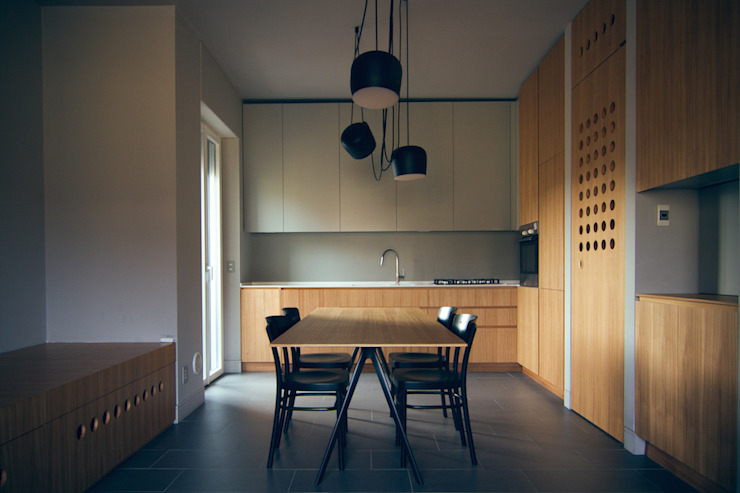 Modern Kitchen by andrea rubini architetto Modern Wood Wood effect