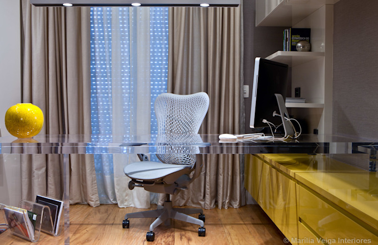 Modern study/office by Marilia Veiga Interiores Modern