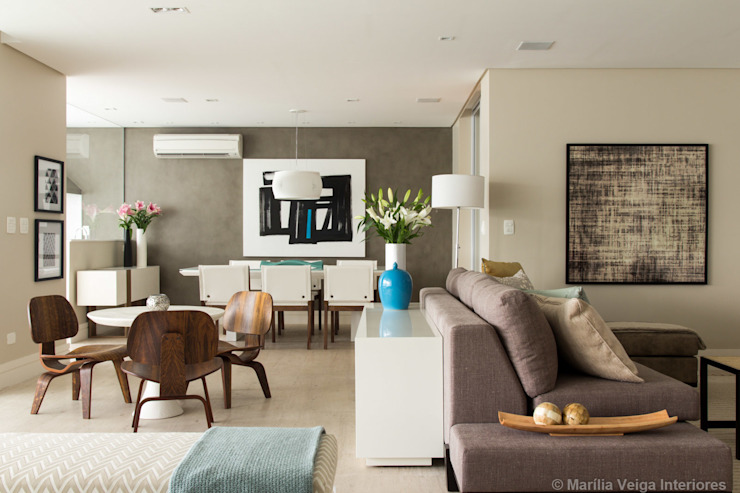 Apartamento Perdizes Salas de estar modernas por Marilia Veiga Interiores Moderno