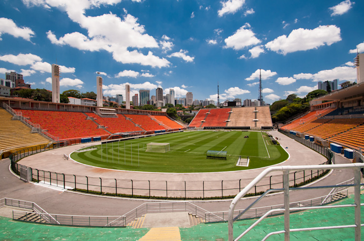 Estádio do Pacaembu Estádios ecléticos por Christiana Marques Fotografia Eclético