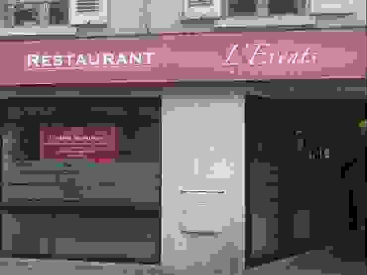 Devanture de l'Évents Gastronomie moderne par Anne Gindre Décoratrice d'Intérieur Moderne