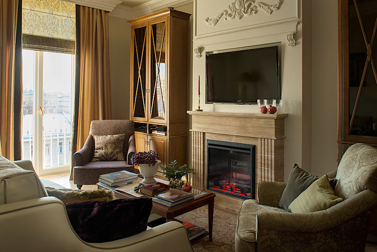 Квартира на Б.Ордынке COUTURE INTERIORS Гостиная в классическом стиле
