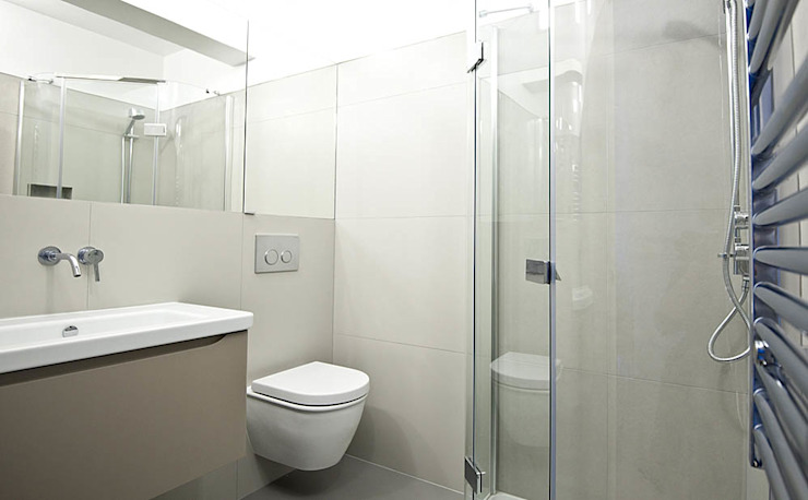 Intelegent use of space in the small bathroom por Porcel-Thin Moderno