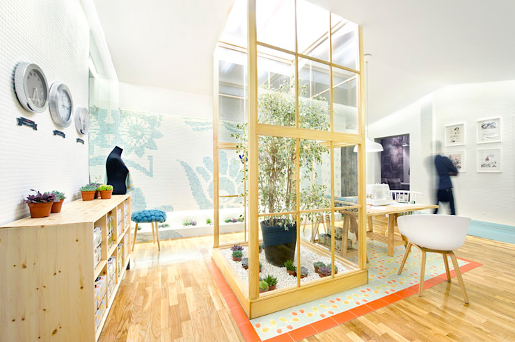 Kleenex <q>eco-Decor</q> Casa Decor 2014 Egue y Seta Diseño de ferias de estilo mediterráneo