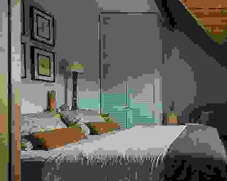 Загородный дом в скандинавском стиле Спальня в рустикальном стиле от COUTURE INTERIORS Рустикальный