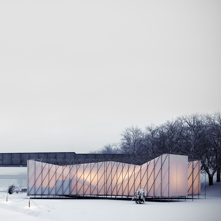 Restaurant on ice Modern gastronomy by OS31 Modern