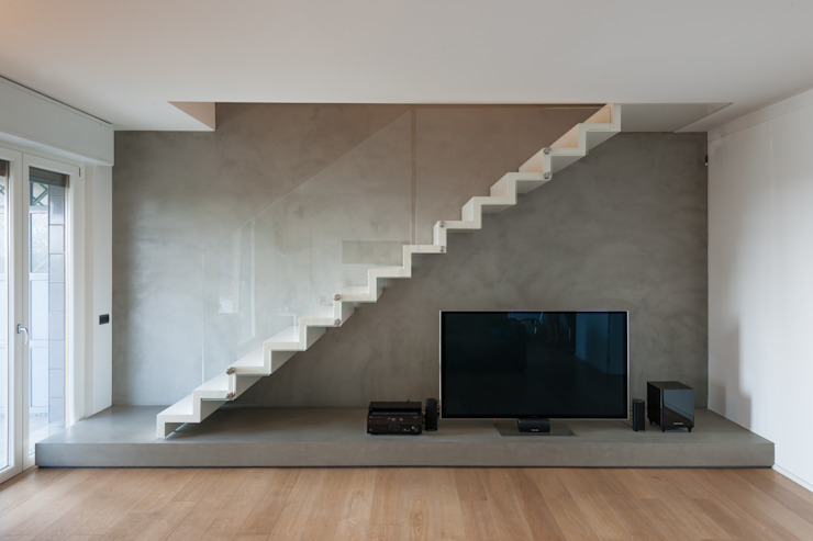 Modern Corridor, Hallway and Staircase by MABELE by MA-Bo srl Modern