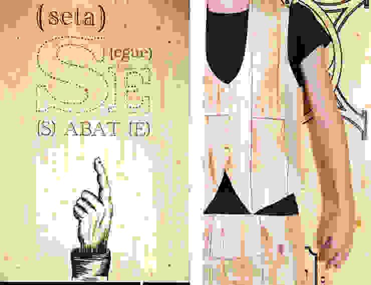 """""""Print Avenue"""". Espacio Casa Decor Barcelona 2012 para Sabaté Diseño de ferias de estilo rústico de Egue y Seta Rústico"""