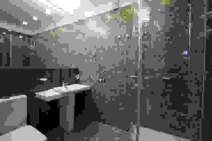 юрта в подмосковье Ванная комната в стиле минимализм от Архитектурное бюро и дизайн студия 'Линия 8' Минимализм