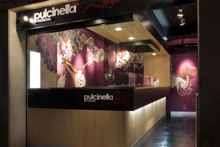 Piadinería Pulcinella. Gastronomía de estilo moderno de Egue y Seta Moderno