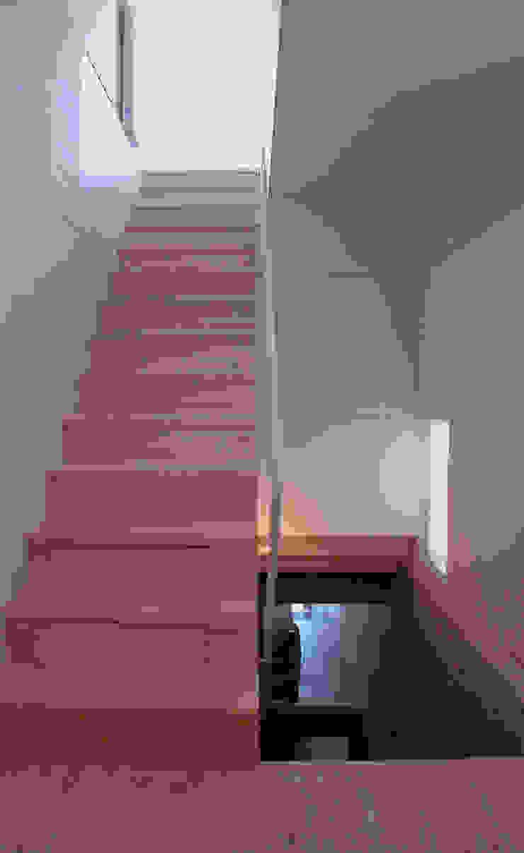 K&K-HOUSE 階段 ミニマルスタイルの 玄関&廊下&階段 の M4建築設計室 ミニマル