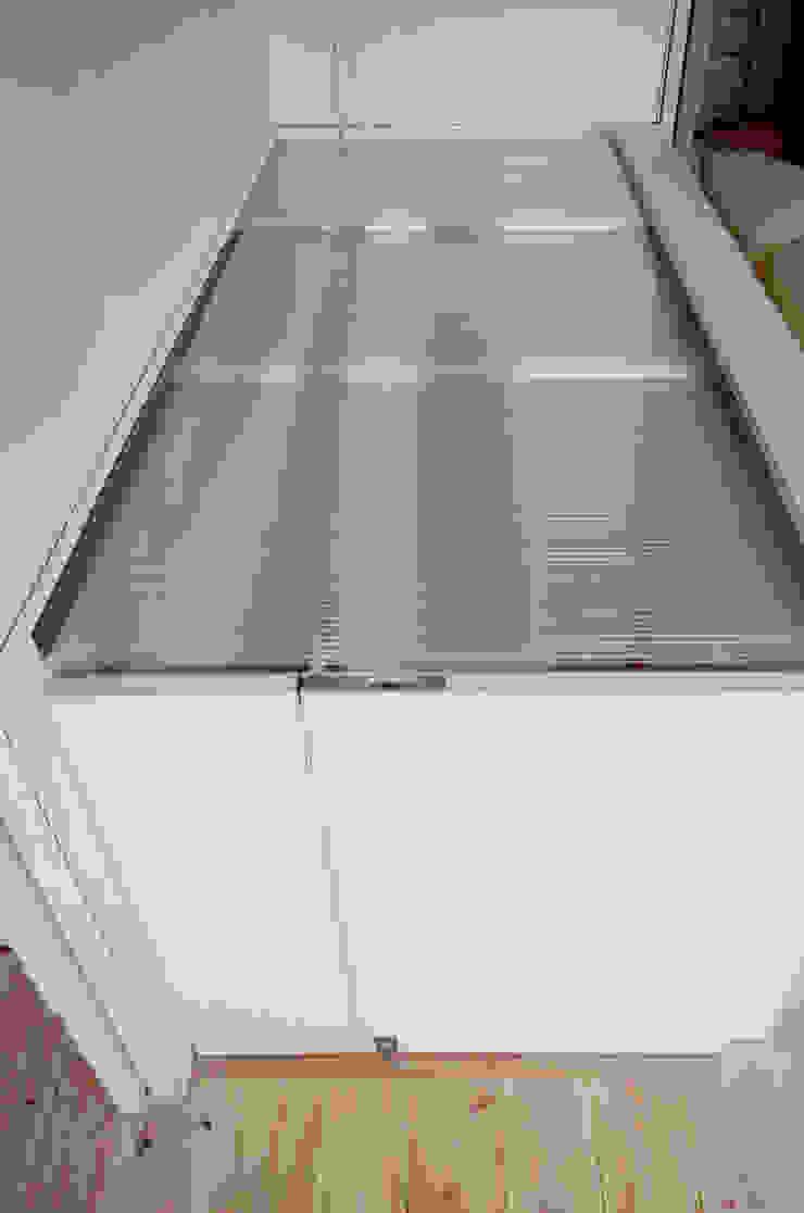 K&K-HOUSE 階段の蓋を閉めたところ ミニマルスタイルの 玄関&廊下&階段 の M4建築設計室 ミニマル