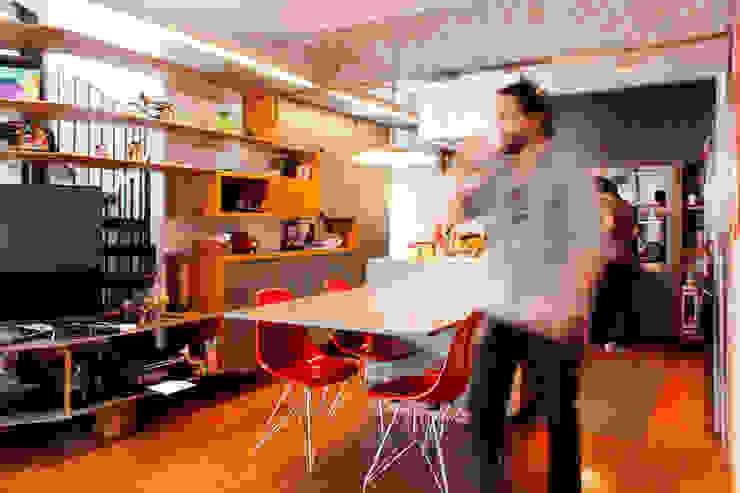 Apartamento na Chácara Klabin Salas de jantar modernas por Mínima arquitetura e urbanismo Moderno