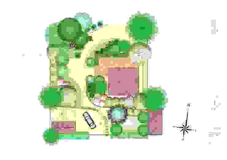 Landscape masterplan. Сад в стиле кантри от BersoDesign ❖ Landscape architecture. Design. Кантри