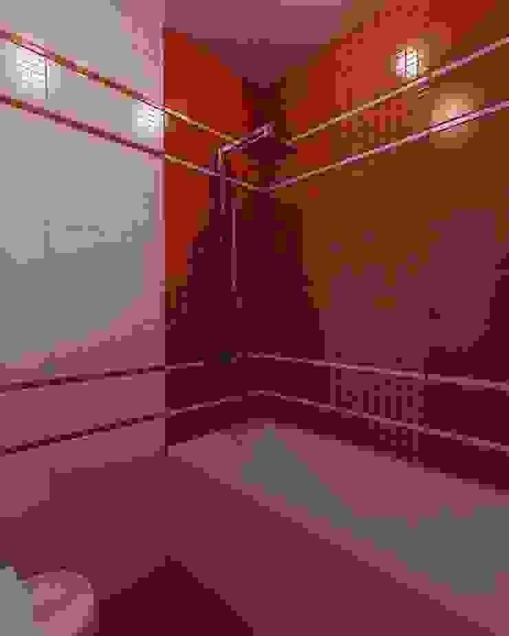Бело-красная ванная Ванная комната в стиле модерн от Efimova Ekaterina Модерн