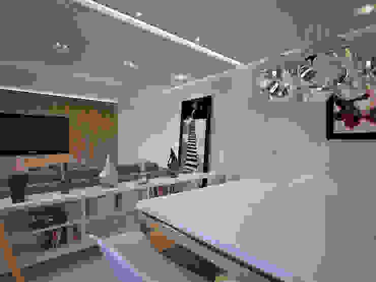 Residência FC+ Salas de jantar modernas por Quattro+ Arquitetura Moderno