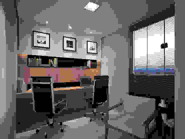 Residência FC+ Escritórios modernos por Quattro+ Arquitetura Moderno