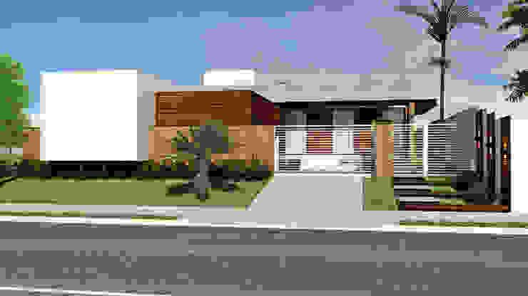Residência SM+ Casas modernas por Quattro+ Arquitetura Moderno