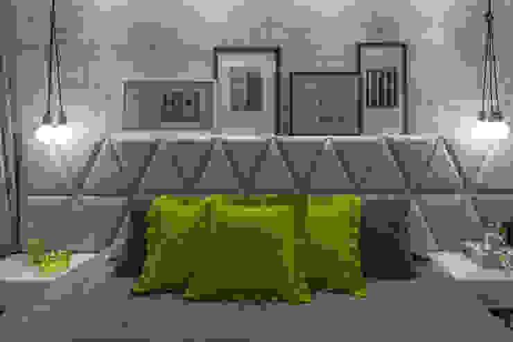 モダンスタイルの寝室 の GREISSE PANAZZOLO ARQUITETURA モダン