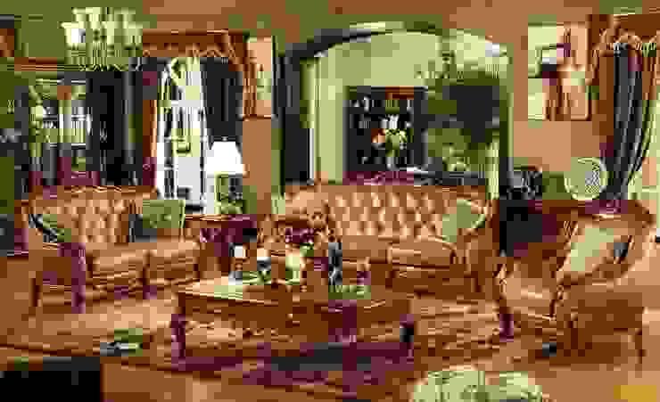 Classic Chesterfield Sofa Set de Locus Habitat Clásico