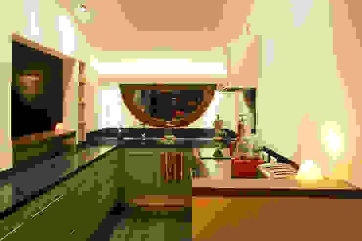 Projekty,  Kuchnia zaprojektowane przez Florine Burger Architecte, Nowoczesny