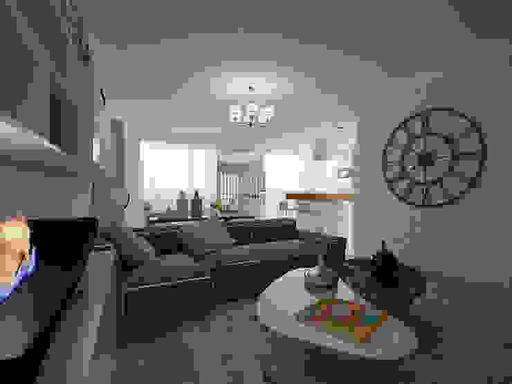 Квартира с включением лоджии в жилое пространство Гостиная в стиле модерн от Makhrova Svetlana Модерн