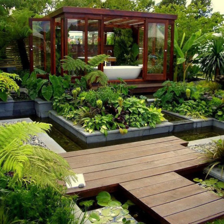 Coaching Paysage Tropical style garden