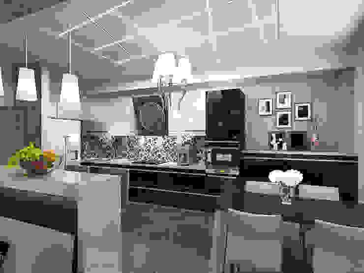 Необрутальный шик Кухня в стиле минимализм от De Style Минимализм