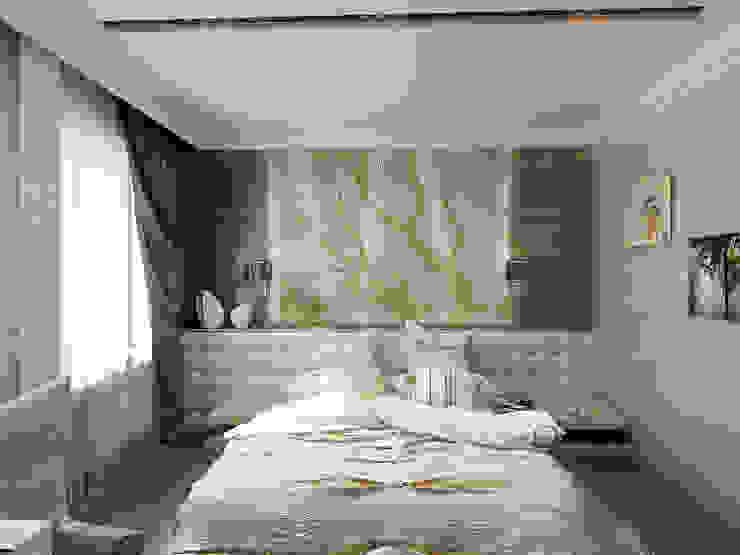 Необрутальный шик Спальня в стиле минимализм от De Style Минимализм