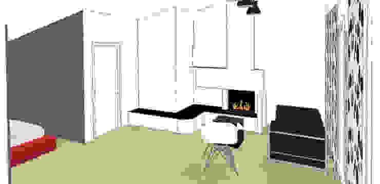 Bozza 3D zona giorno di FOSCA de LUCA Home Stager & Redesigner