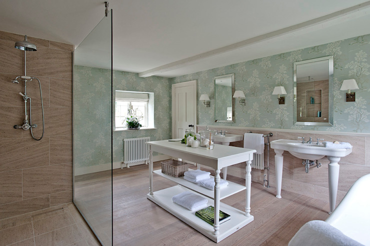 Ansty Manor, Bathroom Salle de bain rurale par BLA Architects Rural