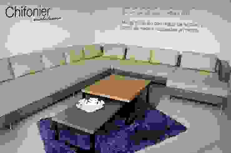 Sala en escuadra en piel Salones modernos de Chiffonnier Moderno