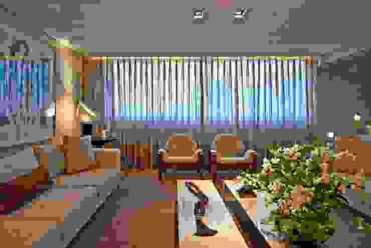 Residência A&S Salas de estar modernas por Alessandra Contigli Arquitetura e Interiores Moderno
