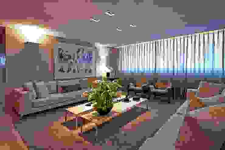 Salones de estilo moderno de Alessandra Contigli Arquitetura e Interiores Moderno