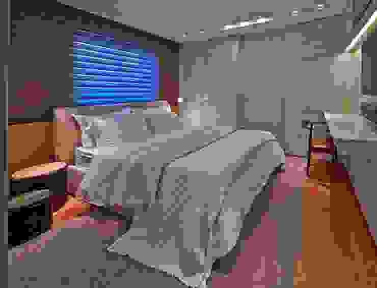 Residência A&S: Quartos  por Alessandra Contigli Arquitetura e Interiores