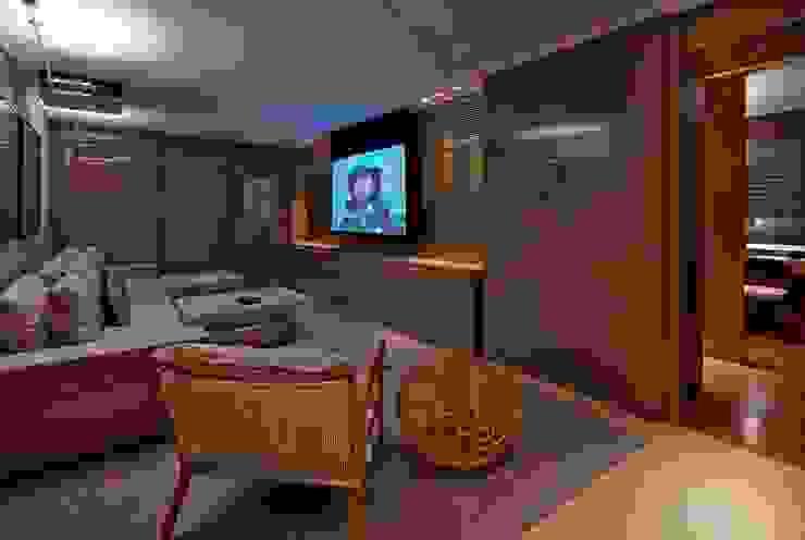 Residência A&S Salas multimídia modernas por Alessandra Contigli Arquitetura e Interiores Moderno