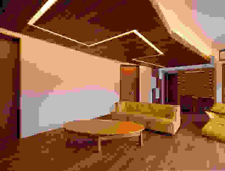 K9-house 「木と光の家」 モダンデザインの リビング の Architect Show Co.,Ltd モダン