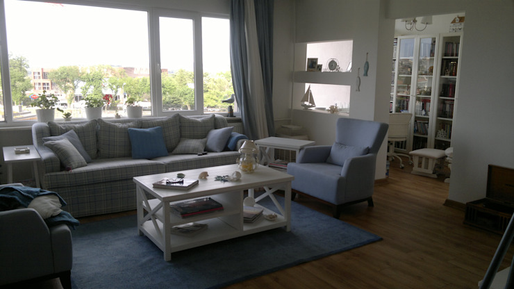 Salas de estar modernas por Ortaköy Parke İç Dekorasyon Moderno