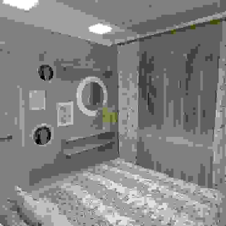 Проект загородного дома в стиле эклектика Спальня в эклектичном стиле от Частный дизайнер Мария Куреннова Эклектичный