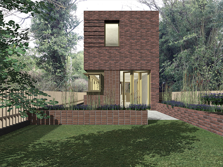 View from rear garden Scandinavian style houses by Satish Jassal Architects Scandinavian