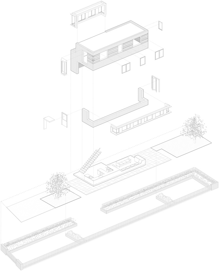 Axonometric by Satish Jassal Architects