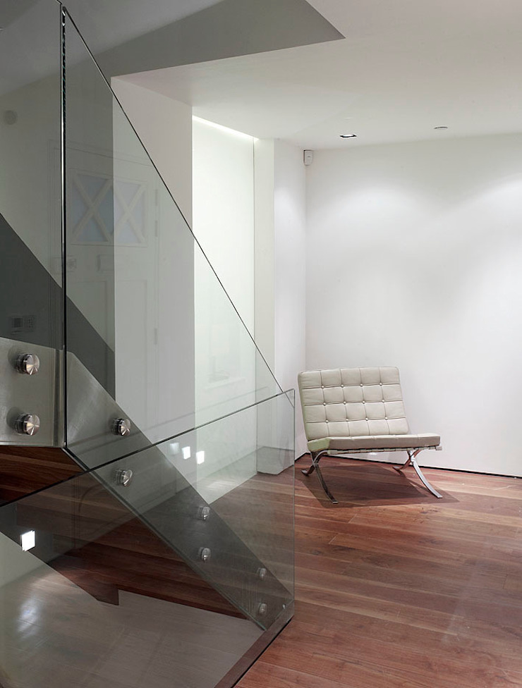 Sheen Lane, Ground Floor Modern corridor, hallway & stairs by BLA Architects Modern