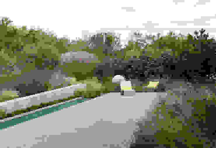 minimalistic architecture floating in dune landscape Moderne tuinen van Andrew van Egmond (ontwerp van tuin en landschap) Modern
